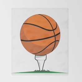 Basketball Tee Throw Blanket