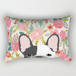 French Bulldog  floral dog head cute frenchies must have pure breed dog gifts Rectangular Pillow