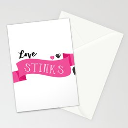 Sad Love Story Love Stinks I Hate Valentines Day Breakup Breaking Up Stationery Cards