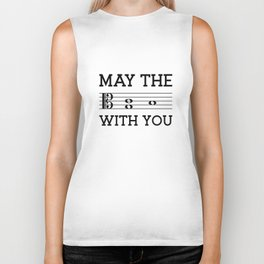 May the 4th be with you (light colors/alto clef) Biker Tank