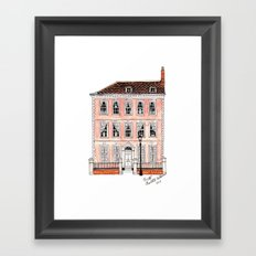 Queens Square Bristol by Charlotte Vallance Framed Art Print