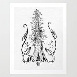 Shelter - Inktober #14 Art Print
