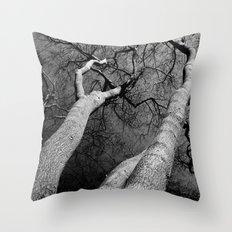 Monochrome Trees Throw Pillow