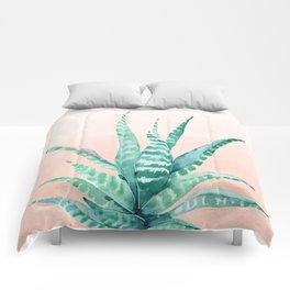 Desert Succulent Aloe Vera Comforters