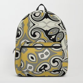 Edwardian Geo Yellow Grey Backpack