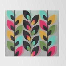 Joyful Plants III Throw Blanket