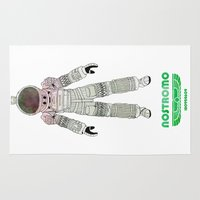 ripley Area & Throw Rugs featuring Nostromo Spacesuit Alien by avoid peril