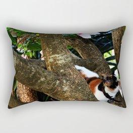 Hibiscus flower cat Rectangular Pillow