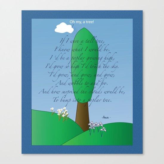 Poplar Tree Poem Canvas Print