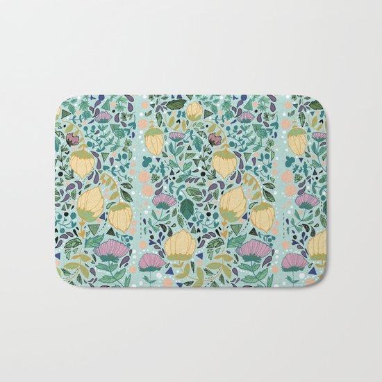 Flower Pattern Bath Mat