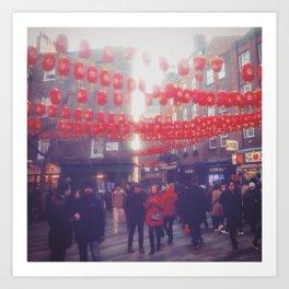 China town. Art Print