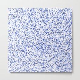 Elegant Blue Small Bubbles Metal Print