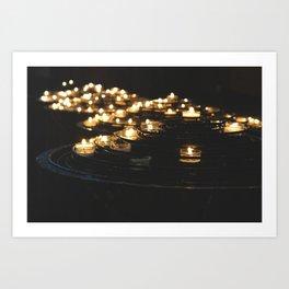 Sacred Lights Art Print
