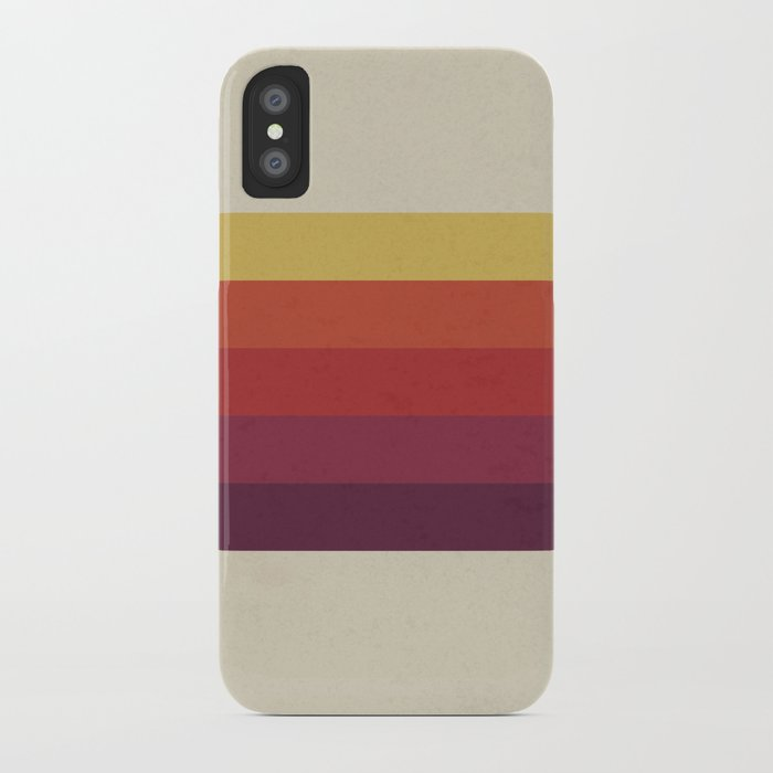 Retro Video Cassette Color Palette iPhone Case