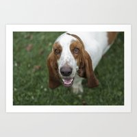 the hound Art Prints featuring Hound by RaviusKiedn