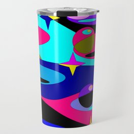 Planets and Stars in Darker Tones Travel Mug