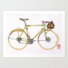 Coffee Wheels #17 Art Print