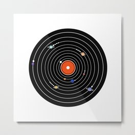 Play Me The Solar System Metal Print