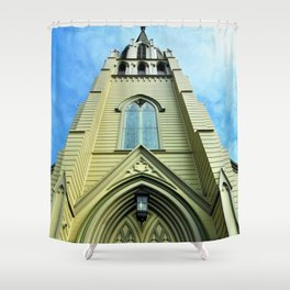 Up the Bellfry Shower Curtain