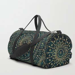 Geometric tribal gold mandala Duffle Bag