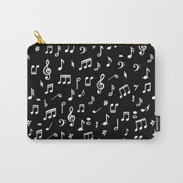 Music notes in black background Carry-All Pouch