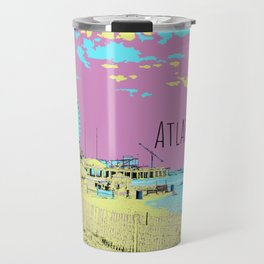 Atlantic City Digital Paint on Photo Travel Mug