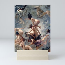 "Luis Ricardo Falero ""Witches going to their Sabbath or The departure of the witches"" Mini Art Print"