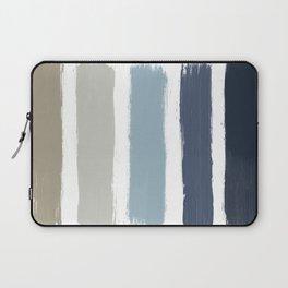 Blue & Taupe Stripes Laptop Sleeve