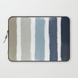 Blue & Taupe Stripes Laptop Sleeve
