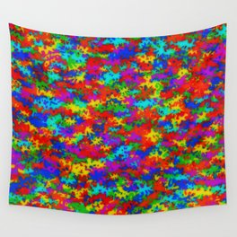 Rainbow camouflage Wall Tapestry