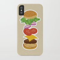 burger iPhone & iPod Cases featuring Burger by Daily Design