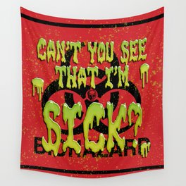 Snotty Biohazard Wall Tapestry