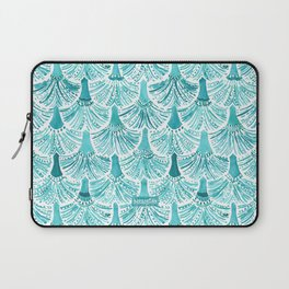 MERMAID TAILS Nautical Scallop Pattern Laptop Sleeve