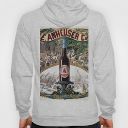Vintage 1879 St. Louis Anheuser Brewing Lithograph Wall Art Hoody