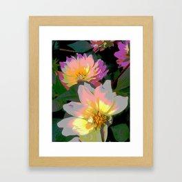 Danity Dahlia Framed Art Print