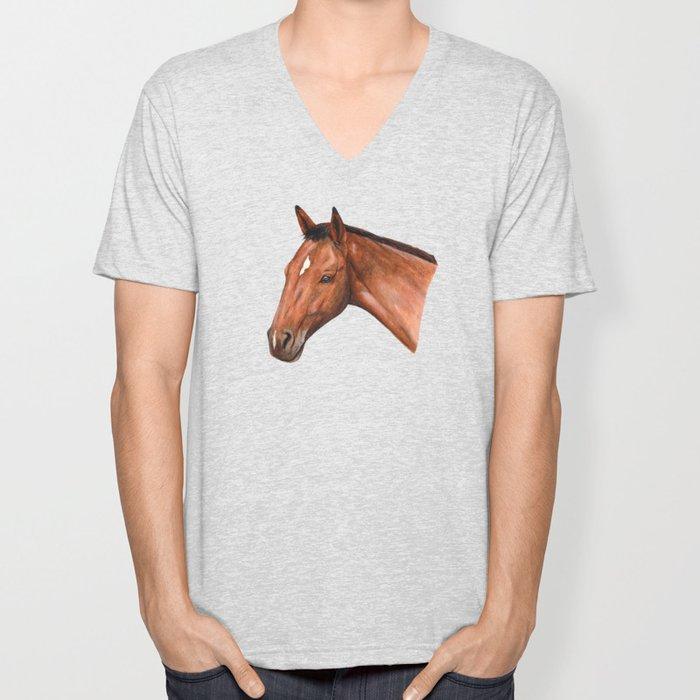 Bay Horse Unisex V-Neck