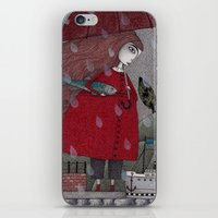 freud iPhone & iPod Skins featuring At the Harbor by Judith Clay