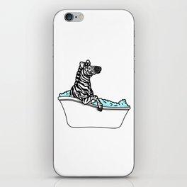 Bathtub zebra iPhone Skin