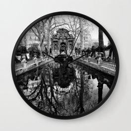 Luxembourg fountain Wall Clock