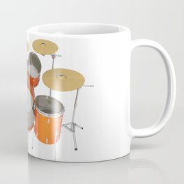 Orange Drum Kit Coffee Mug