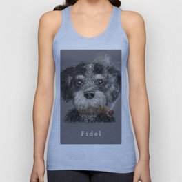Fidel - The Havanese is the national dog of Cuba Unisex Tank Top