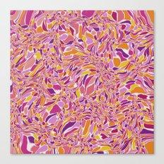 Trippy-Fiesta colorway Canvas Print