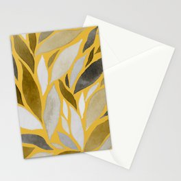 Abstract Watercolour Leaf II Stationery Cards