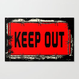 Barbed Wire Keep Out Canvas Print