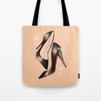 shoes Tote Bags featuring Shoes by ClaireBastian