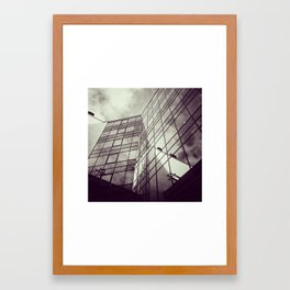 Reflection in the city Framed Art Print