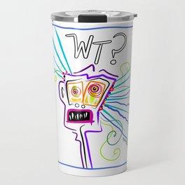 WHAT THE ?? EMOJI Meemogie Art Travel Mug