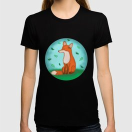 Fox and leaves T-shirt