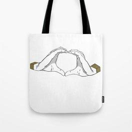 Shigaraki Hand Heart Tote Bag