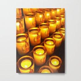 Candles of Notre Dame, Paris Metal Print